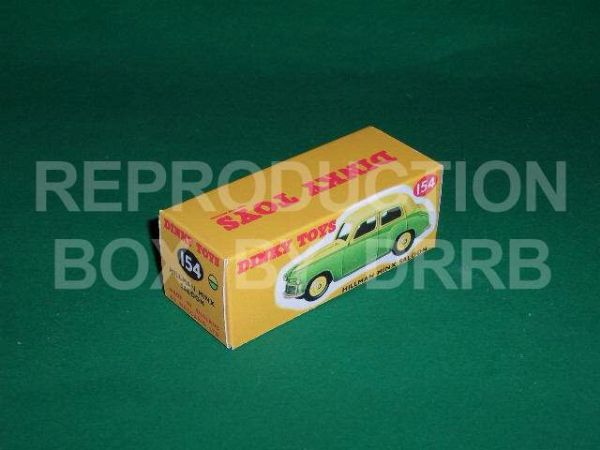 Dinky #154 Hillman Minx - Reproduction Box ( Yellow and Green )
